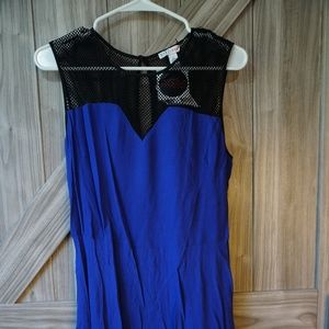 Spectrum Blue Mixed Media Dress Large